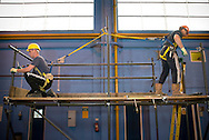 UK. Norfolk, Bircham Newton. The National Construction College East.  Established in 1966 by CITB the college covers over 450 acres of training area, much of which is put to use for practical operative training. More than 4 acres of covered facilities allow training to be carried out all year round. The courses are run by experienced, qualified instructors all of whom have worked in the construction industry..Photo©Steve Forrest/Workers Photos