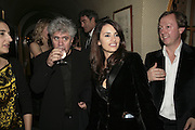 Pedro Almodovar and Penelope Cruz,  Charles Finch and Chanel 7th Anniversary Pre-Bafta party to celebratew A Great Year of Film and Fashiont at Annabel's. Berkeley Sq. London W1. 10 February 2007. -DO NOT ARCHIVE-© Copyright Photograph by Dafydd Jones. 248 Clapham Rd. London SW9 0PZ. Tel 0207 820 0771. www.dafjones.com.