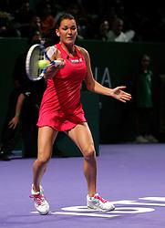 ISTAMBUL 28 10 2011.TURNIEJ WTA MASTERS CHAMPIONSHIPS GDZIE AGNIESZKA RADWANSKA NA ZDJECIU PRZEGRALA Z CZESZKA PETRA KVITOVA I NIE AVANSOWALA DO POLFINALU.WTA MASTERS TOURNAMENT AGNIESZKA RADWANSKA FROM POLAND ON THE PHOTO LOSE WHIT PETRA KVITOVA FROM CZECH AND NOT PLAY TO SEMI FINAL.PHOTO ANDRZEJ SZKOCKI / NEWSPIX.PL.---.Newspix.pl