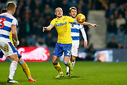 Leeds United defender Luke Ayling (2) in action  during the EFL Sky Bet Championship match between Queens Park Rangers and Leeds United at the Loftus Road Stadium, London, England on 26 February 2019.