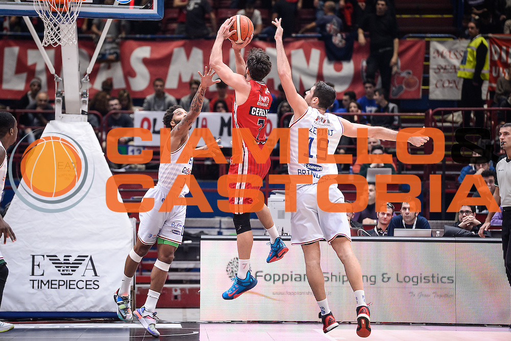 DESCRIZIONE : Milano Lega A 2015-16 <br /> GIOCATORE : Bruno Cerella<br /> CATEGORIA : Tiro Contorcampo<br /> SQUADRA : Olimpia EA7 Emporio Armani Milano<br /> EVENTO : Campionato Lega A 2015-2016<br /> GARA : Olimpia EA7 Emporio Armani Milano Enel Brindisi<br /> DATA : 20/12/2015<br /> SPORT : Pallacanestro<br /> AUTORE : Agenzia Ciamillo-Castoria/M.Ozbot<br /> Galleria : Lega Basket A 2015-2016 <br /> Fotonotizia: Milano Lega A 2015-16
