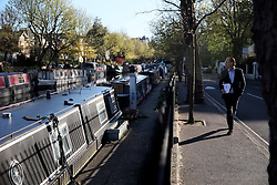 UK ENGLAND LONDON 2MAY16 - London Canal boats at Blomfield Road moorings in Little Venice, Maida Vale, west London.<br /> <br /> jre/Photo by Jiri Rezac<br /> <br /> © Jiri Rezac 2016