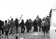 Riot cops lock off a rave, Free Party Scene, Bristol 1990s