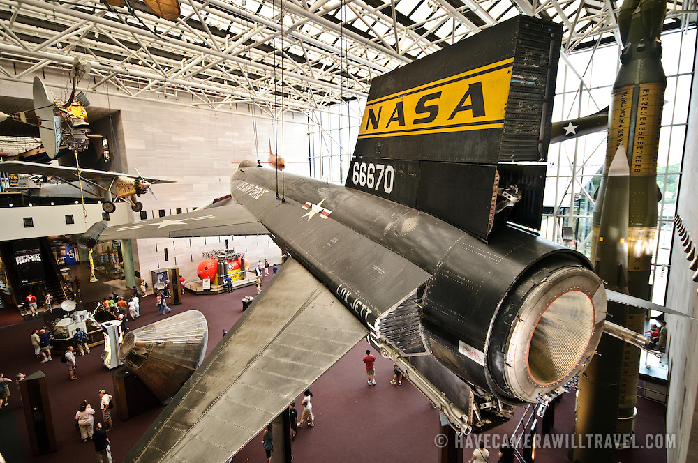 Main entrance hall of the Smithsonian's National Air and Space Museum in Washington, DC