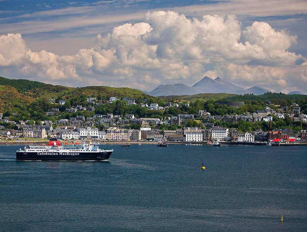 Oban bay with Cruachan