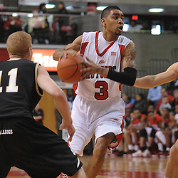 Dec 20, 2008; Piscataway, NJ, USA; Rutgers guard Mike Rosario (3) drives to the net during the first half of Rutgers' 67-37 victory over Bryant at the Louis Brown Rutgers Athletic Center.