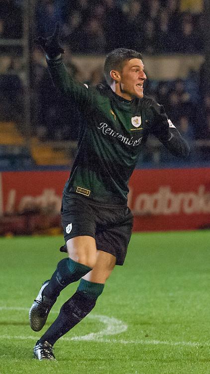 #4 Ross Callachan (Raith Rovers) celebrates<br /> <br /> Morton v Raith Rovers &bull; SPFL Championship &bull; 18 December 2015<br /> <br /> &copy; Russel Hutcheson | SportPix.org.uk