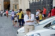 Roma 6 Agosto 2014<br /> Sono tornati per pochi minuti i dehors a Piazza Navona. I titolari dei ristoranti  hanno deciso di alzare le saracinesche e ripristinare gli spazi esterni, ma posizionando i tavolini nel rispetto dei limiti imposti dalle concessioni del comune di Roma. Ma gli agenti della municipale li hanno bloccati: &quot;Non sono autorizzati&quot;. Raffaele Clemente, Comandante Generale della Polizia Locale di Roma Capitale<br /> Rome August 6, 2014 <br /> They came back for a few minutes the dehors in the Piazza Navona. The owners of the restaurants have decided to raise the  rolling shutter and restore the dehors, but by placing the tables within the limits imposed by the concessions of the city of Rome. But the agents of the municipal blocking them: &quot;They are not unauthorised &quot;. Raffaele  Clemente, Commanding General of the Local Police of Rome Capital
