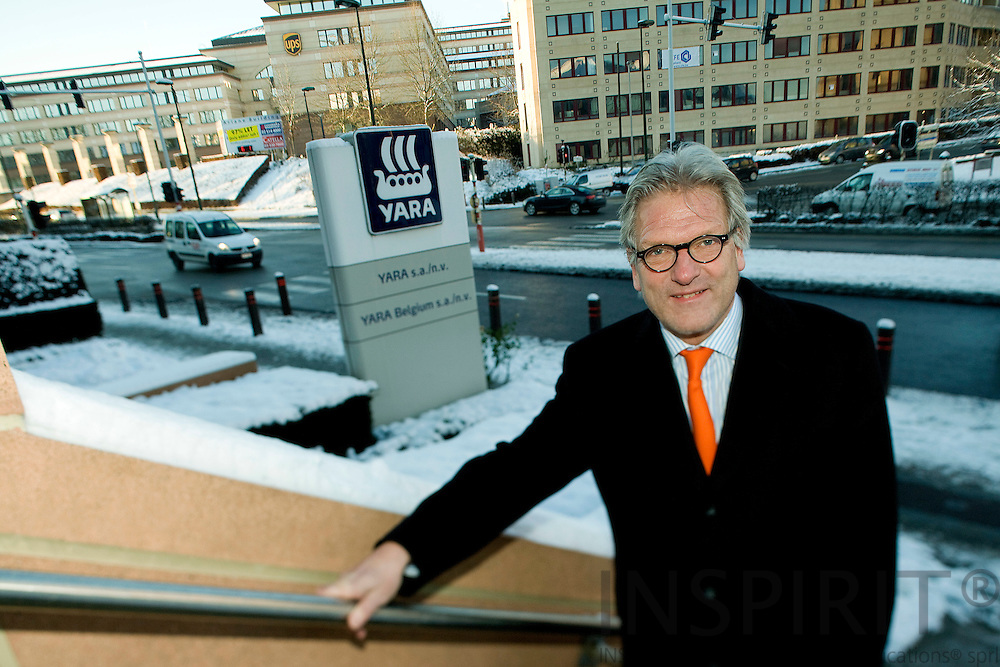BRUSSELS - BELGIUM - 06 JANUARY 2009 -- Director Steinar SOLHEIM, both YARA S.A in Belgium. Photo: Erik Luntang
