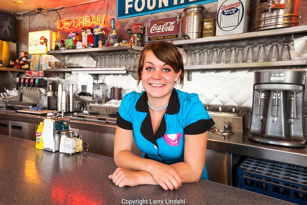 66 Diner, Albuquerque, New Mexico, Route 66, Kimberly Preston waitress,