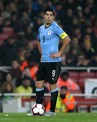 Uruguay's Luis Suarez during the International Friendly match at the Emirates Stadium, London