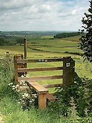 Wooden Stile looking over Lincolnshire landscape