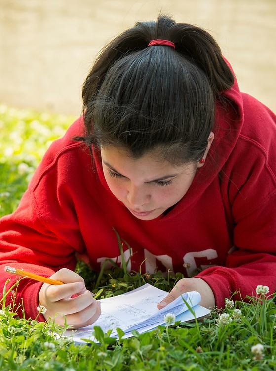 Jessica Joseph teaches sixth grade math at Hogg Middle School, April 30, 2015.