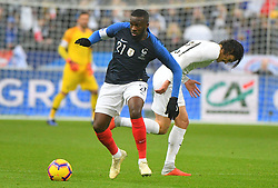 France's forward Antoine Griezmann (R) during France v Uruguay friendly football match at the Stade de France in Saint-Denis, suburb of Paris, France on November 20, 2018. France won 1-0. Photo by Christian Liewig/ABACAPRESS.COM