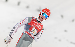 06.01.2016, Paul Ausserleitner Schanze, Bischofshofen, AUT, FIS Weltcup Ski Sprung, Vierschanzentournee, Bischofshofen, Finale, im Bild Andreas Wank (GER) // Andreas Wank of Germany reacts after his 1st round jump of the Four Hills Tournament of FIS Ski Jumping World Cup at the Paul Ausserleitner Schanze in Bischofshofen, Austria on 2016/01/06. EXPA Pictures © 2016, PhotoCredit: EXPA/ JFK