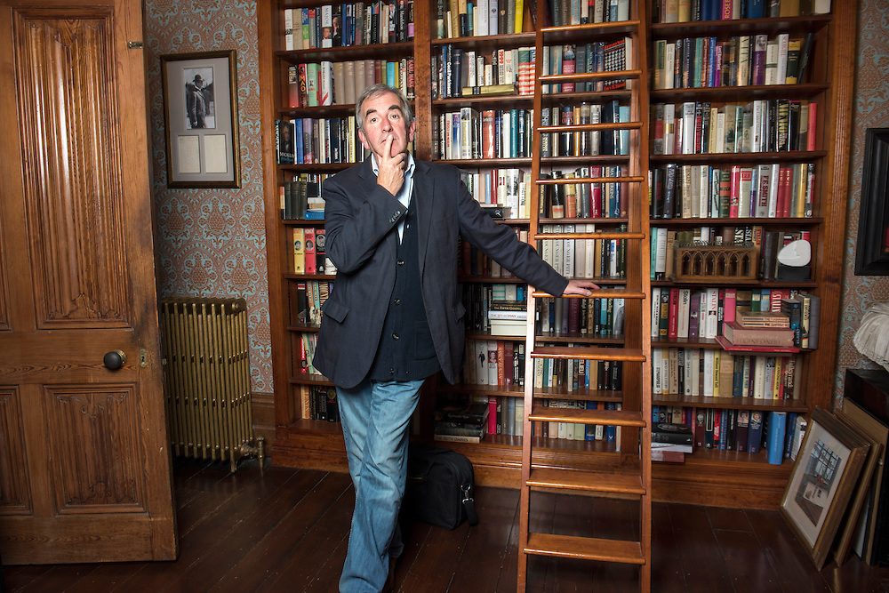 British author, Robert Harris, at home in Kintbury, Berkshire, Britain.