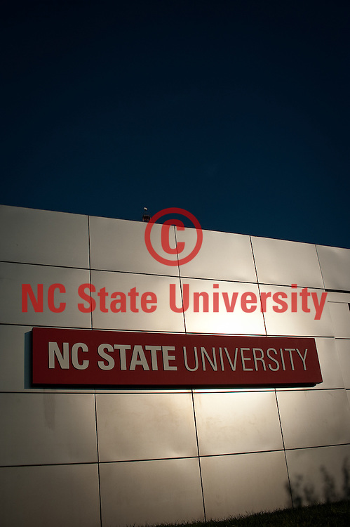 The Gateway Arch at the entrance to NC State univeristy on Western Blvd. Photo by Marc Hall