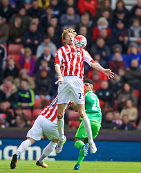 STOKE-ON-TRENT, ENGLAND - Saturday, April 30, 2016: Stoke City's Peter Crouch in action against Sunderland during the FA Premier League match at the Britannia Stadium. (Pic by David Rawcliffe/Propaganda)