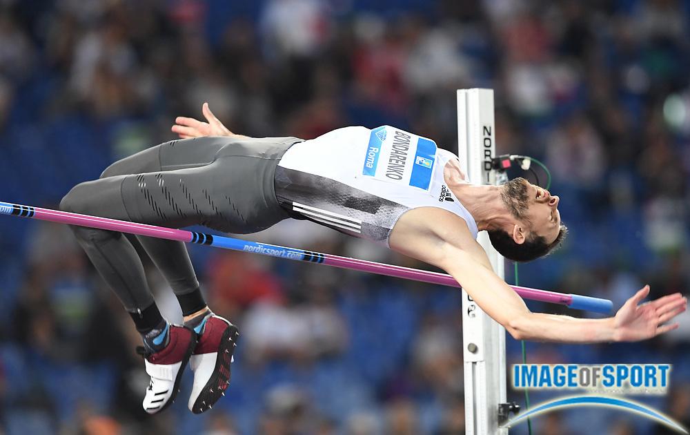 Bohdan Bondarenko (UKR) wins the high jump at 7-7 (2.31m) during the 39th Golden Gala Pietro Menena in an IAAF Diamond League meet at Stadio Olimpico in Rome on Thursday, June 6, 2019. (Jiro Mochizuki/Image of Sport)