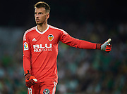 SEVILLE, SPAIN - OCTOBER 15:  Norberto Murara Neto of Valencia CF reacts during the La Liga match between Real Betis and Valencia at Estadio Benito Villamarin on Octob  (Photo by Aitor Alcalde Colomer/Getty Images)