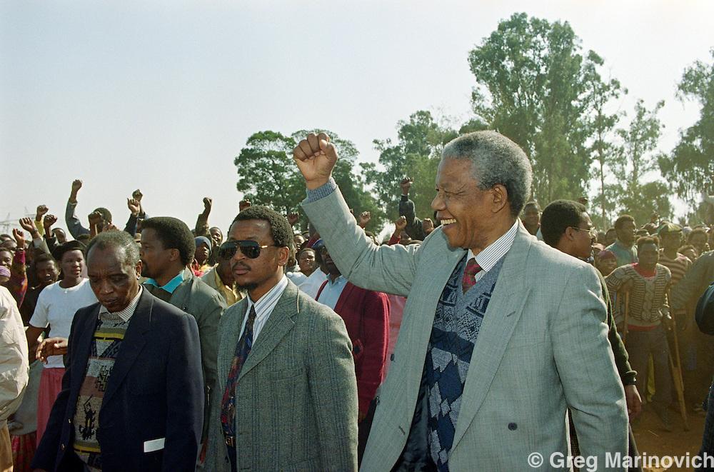 ANC leader Nelson Mandela at Phola Park, Thokoza, Transvaal, South Africa, 30 May 1992