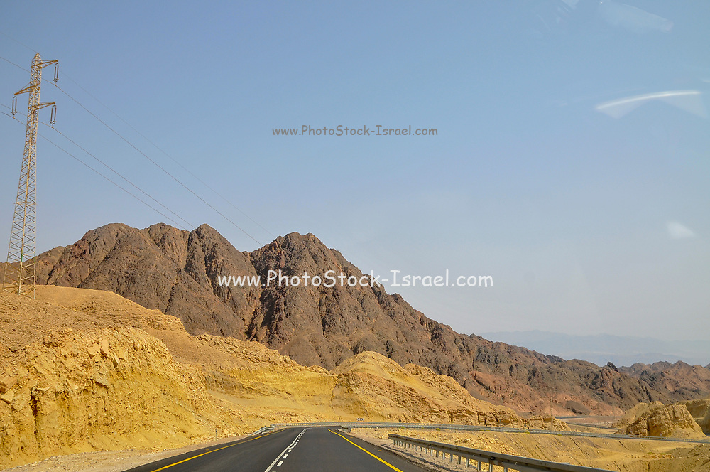 The colourful Eilat mountain range TNorth of Eilat, Israel
