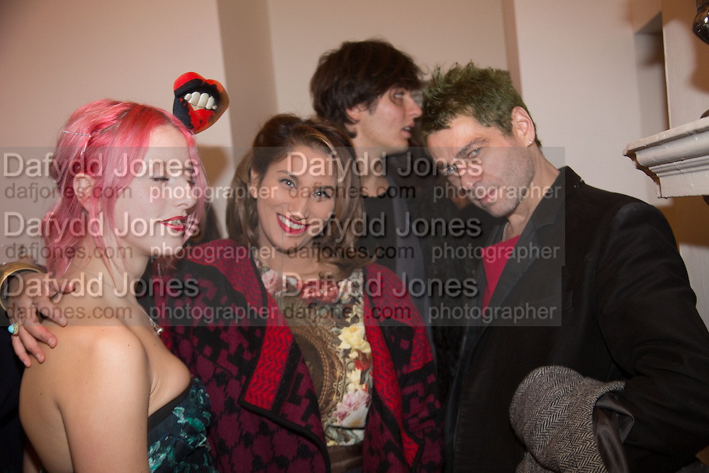 HARRIET VERNEY; MARTINA RINK; ALESSANDRO FRANCALANG; TIM NOBLE, Isabella Blow: Fashion Galore! private view, Somerset House. London. 19 November 2013