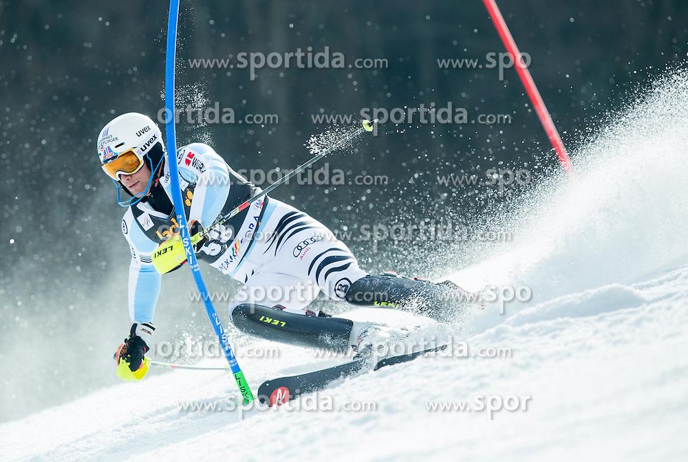 HOLZMANN Sebastian of Germany competes during 1st Run of Men Slalom race of FIS Alpine Ski World Cup 54th Vitranc Cup 2015, on March 15, 2015 in Kranjska Gora, Slovenia. Photo by Vid Ponikvar / Sportida