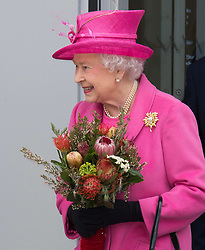 In the frame - The Queen.<br /> The Queen and Duke Of Edinburgh open Rambert dance company's new premises in south east London, following a move from Chiswick, Rambert Dance Company, London, United Kingdom. Friday, 21st March 2014. Picture by Nils Jorgensen / i-Images