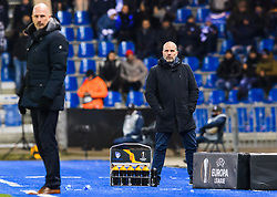 December 13, 2018 - Genk, BELGIUM - 181213 Philippe Clement, head coach of Genk, and Geir Bakke, head coach of Sarpsborg 08, during the Europa League group stage match between Genk and Sarpsborg 08 on December 13, 2018 in Genk. .Photo: Fredrik Varfjell / BILDBYRN / kod FV / 150187. (Credit Image: © Fredrik Varfjell/Bildbyran via ZUMA Press)