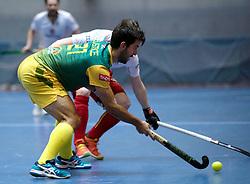 BERLIN - Indoor Hockey World Cup<br /> South Africa - Belgium<br /> foto: Jethro Eustice <br /> WORLDSPORTPICS COPYRIGHT FRANK UIJLENBROEK