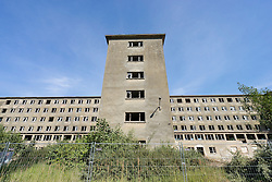 Nazi era buildings at former resort Prora on Rugen Island in Mecklenburg Vorpommern Germany