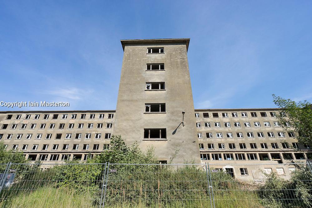Nazi era buildings at former resort Prora on Rugen Island in Mecklenburg Vorpommern Germany