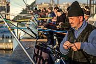 Fishermen at the Galata bridge