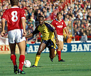 Nottingham Forest v Arsenal 22.9.1990