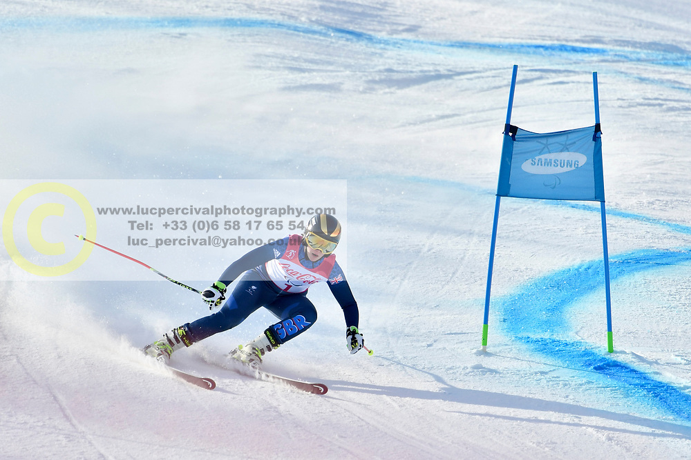 KNIGHT Millie B2 GBR Guide: WILD Brett competing in ParaSkiAlpin, Para Alpine Skiing, Super G at PyeongChang2018 Winter Paralympic Games, South Korea.