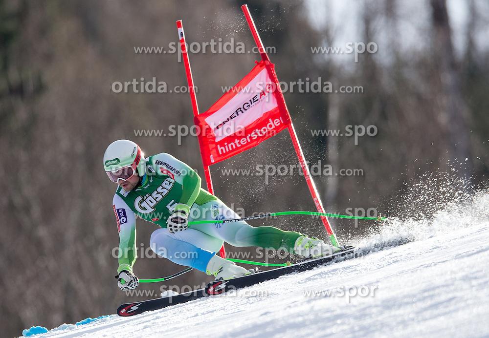 27.02.2016, Hannes Trinkl Rennstrecke, Hinterstoder, AUT, FIS Weltcup Ski Alpin, Hinterstoder, Super G, Herren, im Bild Bostjan Kline (SLO, 2. Platz) // 2nd placed Bostjan Kline of Slovenia competes during his run of men's Super G of Hinterstoder FIS Ski Alpine World Cup at the Hannes Trinkl Rennstrecke in Hinterstoder, Austria on 2016/02/27. EXPA Pictures © 2016, PhotoCredit: EXPA/ Johann Groder