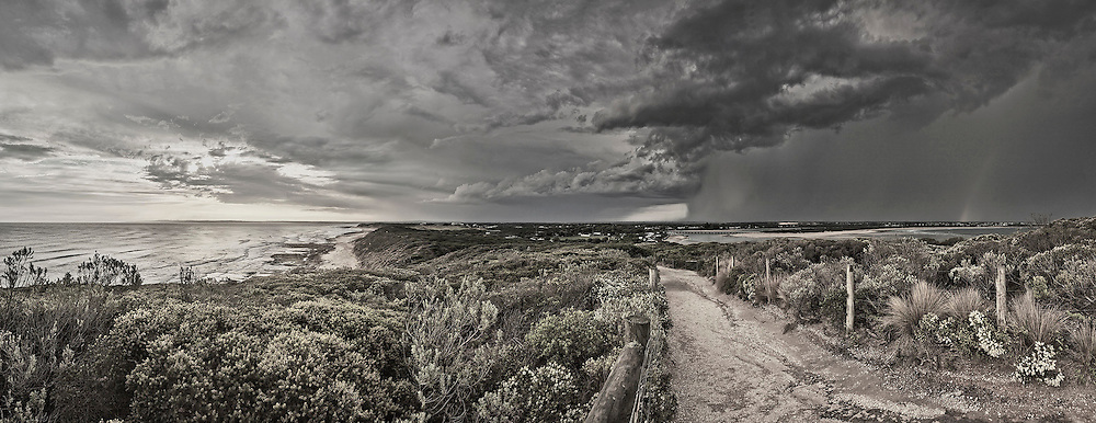 stormy afternoon in Barwon Heads