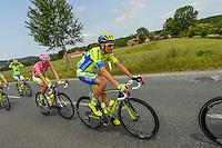 Contador Alberto / Basso Ivan - Tinkoff Saxo - 14.05.2015 - Etape 6 - Tour d'Italie - Montecatini Terme / Castiglione della Pescaia<br />Photo : Sirotti / Icon Sport<br />  *** Local Caption ***
