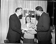 07/01/1969.01/07/1969.07 January 1969. Erin Foods function at Erin Foods Ltd. Frank Manning, General Sales Manager Erin Foods Ltd, Mrs Mary Rice, Crumlin and Mr Derek Young, Sales Manager Erin Foods Ltd.
