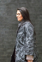 Downing Street, London June 2nd 2015. Priti Patel, Minister of State for Employment arrives at 10 Downing Street to attend the weekly Cabinet Meeting.