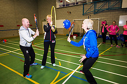 Pictured: Judy Murray and fellow coach Kris Soutar<br /> At St George's School for Girls in Edinburgh today, as part of World Tennis Day, Judy Murray started the training of 60 teachers from schools all over Scotland in how to deliver tennis for girls in secondary schools to help promote girls' tennis <br /> <br /> Ger Harley | EEm 6 March 2017