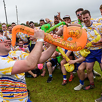 "REPRO FREE<br /> Martin Connolly and the 'Really Good Sax Guys' team from Kilkenny pictured at the 30th Anniversary Heineken Kinsale 7s at the weekend. <br /> Picture. John Allen<br /> <br /> PRESS RELEASE<br /> For Immediate Release: <br /> <br /> 30th ANNIVERSARY HEINEKEN KINSALE 7s KICKS OFF<br /> The Heineken Kinsale 7s take place in Kinsale over the May Bank Holiday weekend, 5th & 6th May 2018. This is Ireland's largest rugby 7s tournament and builds on its success each year, with over 8,000 visitors expected in the Cork seaside town.<br /> The Heineken Kinsale 7s promises to be an action-packed weekend of competitive men and women's running rugby for an attractive prize fund, trophies and medals. A high calibre of rugby players across all competitions is anticipated as well as a fun social programme. <br /> Mens Elite Champions, Projecx Waterboys from Scotland return to Kinsale to defend their title. They will compete against the Swedish Men's 7s, Speranza 22 from Dubai, The Camarthen Warriors and Ponty Butchers from Wales, CLIC Sargent Godfathers from London and University College Dublin.<br /> In Men's Open competition, The King Prawns from London are defending their title against challengers Fuze 7s, Session Motts and DISCO Bals will be challenging defending champions <br /> Former Irish International, Tania Rosser returns as player/manager for the WRR Ravens invitational side who will be looking forward to challenging The Ponty Butchers Women's team from Wales, contenders in the women's elite competition sponsored by Hayes Caravan Services.  Other women's teams include Team Boom, The All Craics, Capsized and the Ballincollig Pink Ladies who enjoy the women's social competition.<br /> Pat Maher, Event and Sponsorship Manager, Heineken Ireland said: ""We are delighted to continue our support and sponsorship of the Heineken Kinsale 7s and look forward to celebrating the 30th Anniversary in Kinsale with top-quality competitive rugby. We thank everyone involved in Kinsale RFC for their foresight, courage and wisdom t"