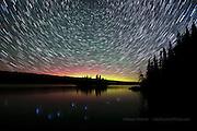 star trails, aurora, airglow, Isle Royale