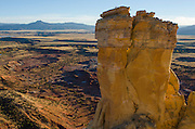 Chimney Rock Spire. Exploring the vast landscapes of Northern New Mexico's Historic Ghost Ranch.