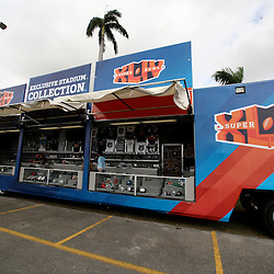 Feb 05, 2010;  Miami, FL, USA; General view of merchandise trailer at Sun Life Stadium the venue for Super Bowl XLIV between the New Orleans Saints and Indianapolis Colts. Mandatory Credit: Derick E. Hingle