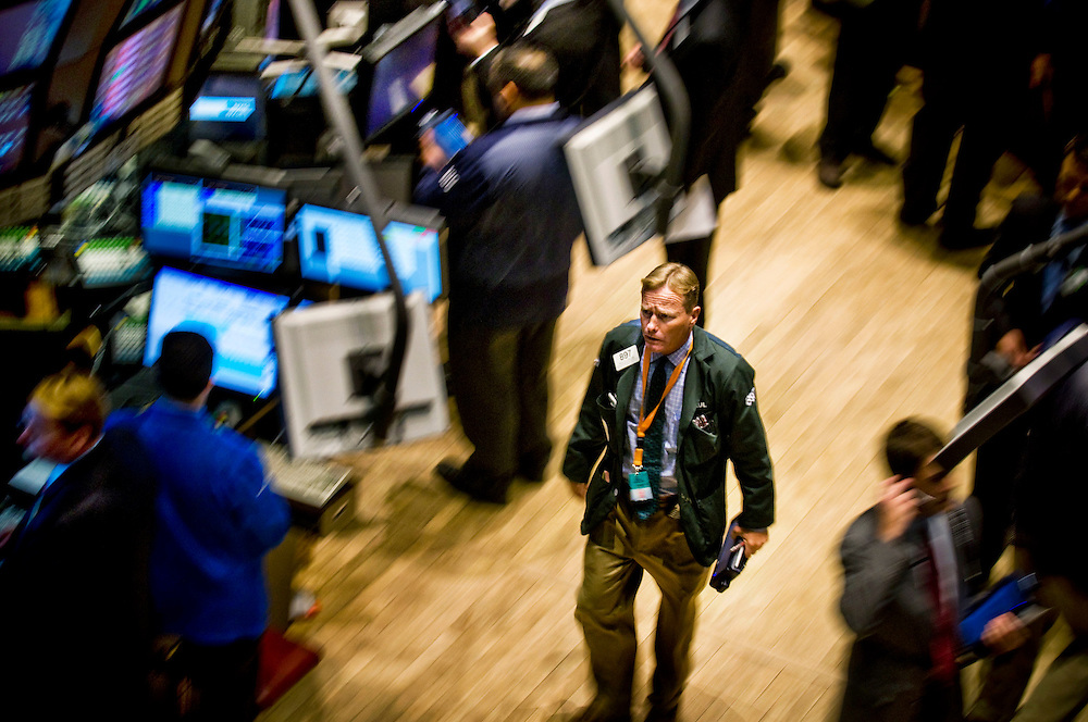 Traders on the floor at The New York Stock Exchange, NYSE..Photographer: Chris Maluszynski /MOMENT