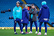 Leeds United midfielder Kalvin Phillips (23) arrives at the ground during the EFL Sky Bet Championship match between Leeds United and Bristol City at Elland Road, Leeds, England on 15 February 2020.