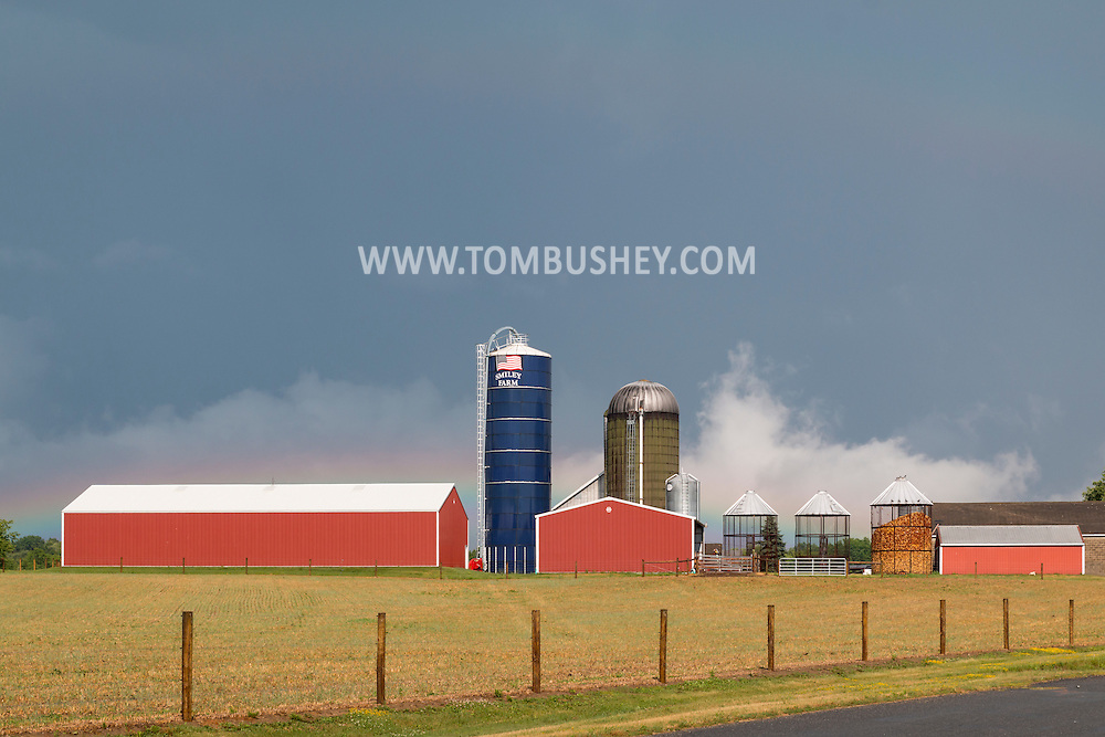 Town of Wallkill, New York - Views of Smiley Farm after a summer thunderstorm on July 1, 2016.