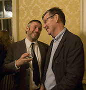 JAKE MILLER AND JOHN STEZAKER, Opening of a new exhibition of collages by John Stezaker at The Approach W1. 74 Mortimer st. and afterwards at the House of St-Barnabas-in-Soho. Greek st. London. 21 November 2007. -DO NOT ARCHIVE-© Copyright Photograph by Dafydd Jones. 248 Clapham Rd. London SW9 0PZ. Tel 0207 820 0771. www.dafjones.com.
